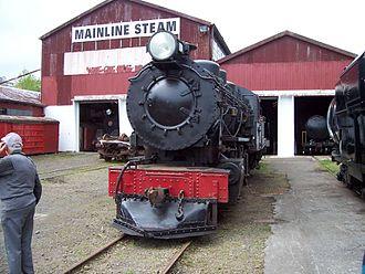 NZR BA class - BA 552 at Mainline Steam's former Parnell depot in 2010.