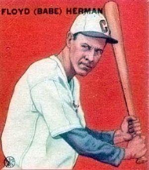 Babe Herman - Image: Babe Herman Goudey Baseball Card