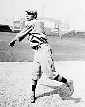 Babe Ruth pitching