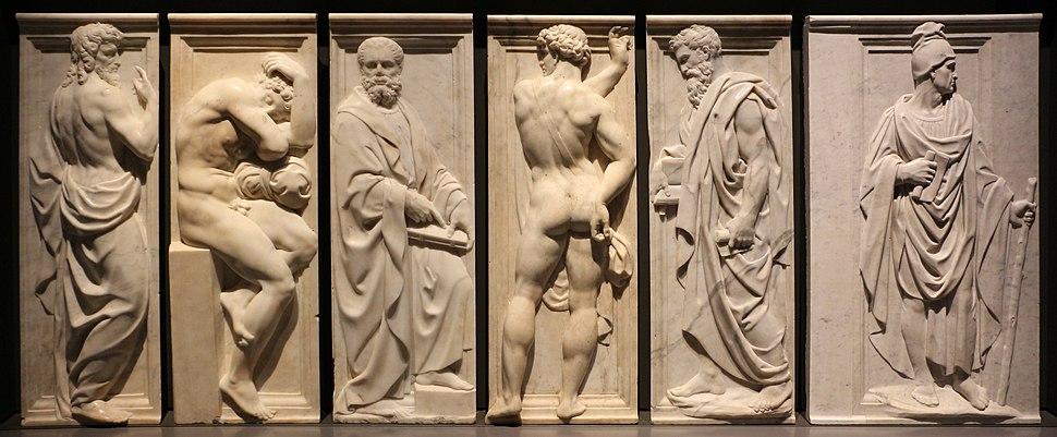 Baccio bandinelli, giovanni dell'opera e altri collaboratori, rilievi di personaggi maschili dal coro di santa maria del fiore, 1547-72, 04