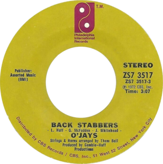 Back Stabbers (song) 1972 single by The OJays