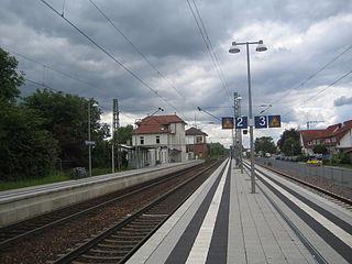 Bad Schönborn Süd station railway station in Bad Schönborn, Germany