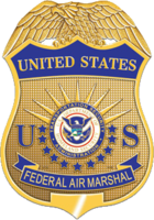 The badge of the Federal Air Marshal Service