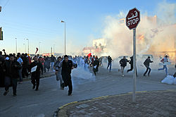 Bahrain represión Nuwaidrat 14 de febrero  2011.jpg