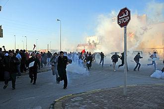 Day of Rage (Bahrain) - Image: Bahrain crackdown Nuwaidrat 14 feb. 2011