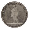 Baksida av medalj med man i antik dräkt - Skoklosters slott - 99430.tif