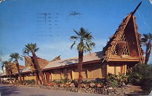 "Tiki culture - ""The Bali Ha'i"", a tiki themed restaurant in New Orleans, 1950s A-Frame style"