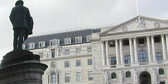Bank of England - The main Bank of England façade, c. 1980