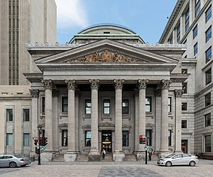 Bank of Montreal - Bank of Montreal's main Montreal branch at Place d'Armes in Montreal.