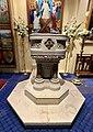 Baptismal font at All Saints Anglican Church, Brisbane 01.jpg