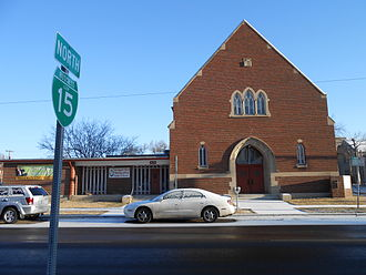 Interstate 15 Business (Great Falls, Montana) - First Baptist Church, in the city center on 2nd Ave.