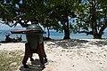 Barbecue green egg auf der Insel Felicite (25746156668).jpg