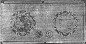 Columbian half dollar - Barber's original sketches for the half dollar, August 1892
