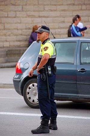 Guàrdia Urbana de Barcelona - Guàrdia Urbana transit police officer.