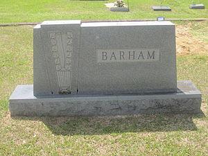 """C. E. """"Cap"""" Barham - Barham monument at Greenwood Cemetery in Ruston"""