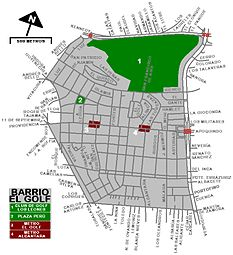 Barrio El Golf de Santiago de Chile (plano) - El Golf of Santiago, Chile (map).jpg