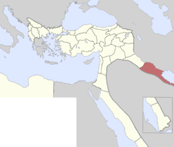 Location of Basra Vilayet