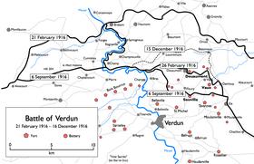 bataille de verdun carte Bataille de Verdun — Wikipédia