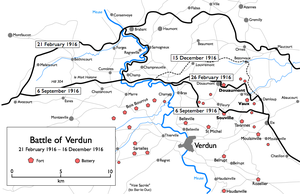 Battle of Verdun - Map of the battle