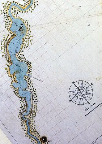 History of Perth, Western Australia - The first detailed map of the Swan River, drawn by the French in 1801