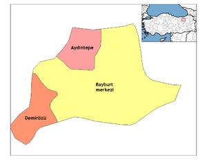Bayburt districts.png