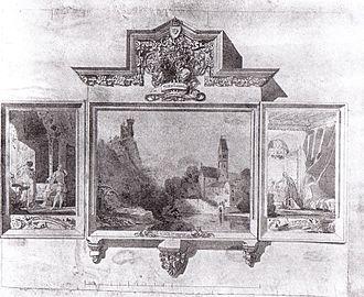 August von Bayer - Ritter Toggenburg, a ballad by Friedrich Schiller. Drawing by Bayer in the Staatliche Kunsthalle Karlsruhe.