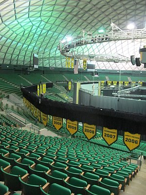 Ferrell Center -  Interior, Set Up for Donor Party 2016