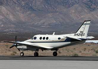 Beechcraft King Air - An E90 King Air taxis at the Mojave Spaceport