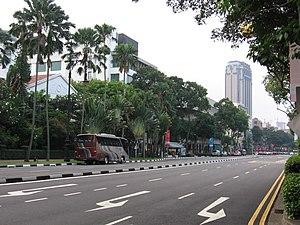 Beach Road, Singapore - Beach Road near Raffles Hotel.