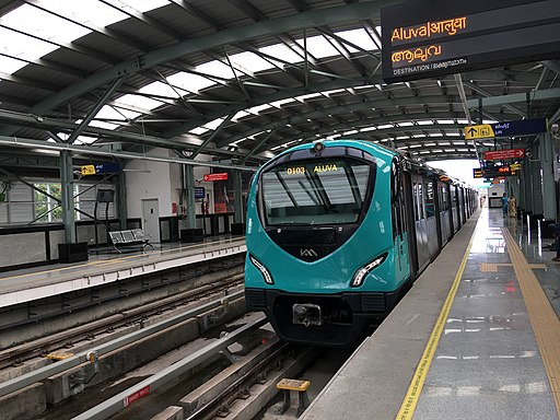 Beautiful Kochi Metro Train at station