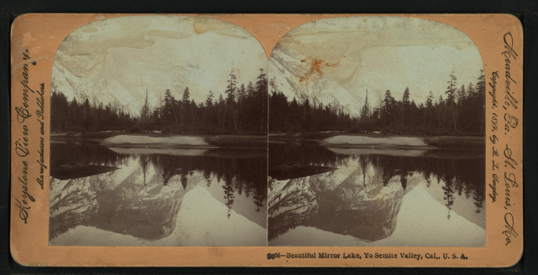 Beautiful Mirror Lake, Yosemite Valley, Cal. U.S.A, by Singley, B. L. (Benjamin Lloyd) 6.png
