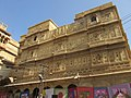 Beautifully carved buildings inside Jaisalmer Fort.jpg