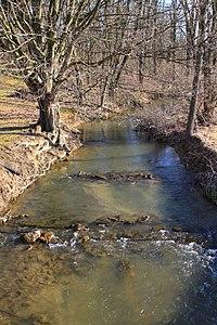 Beaver Run looking upstream from Pennsylvania Route 192.jpg