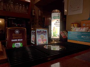 Samuel Smith Brewery - Assorted keg beer taps (Dark Mild, Taddy Lager, Pure Brew Organic Lager)