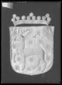 Begravningsbanér, Västerbotten, fört vid Karl X Gustavs begravningståg 1660 - Livrustkammaren - 18901.tif