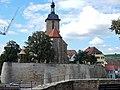 Beim 366 km langen Neckartalradweg, Regiswindiskirche, 1227 entstanden, nach Brand 1564 neu erbaut - panoramio.jpg