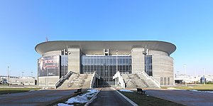 Belgrade_Arena,_east_entrance,_Feb_2011