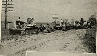 Earthworks (engineering) - Earth moving equipment (circa 1922)