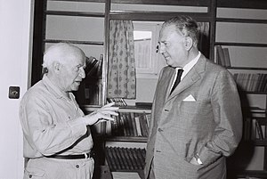 Randolfo Pacciardi - Randolfo Pacciardi and David Ben-Gurion in Sde Boker, 1958