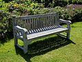 Bench seat in Walled Garden Parham House, West Sussex, England.jpg