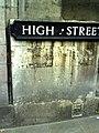 Benchmark on ^61 High Street - geograph.org.uk - 2033064.jpg