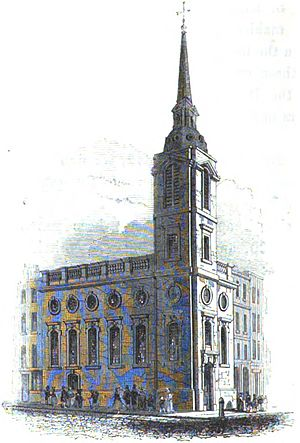 St Benet Gracechurch - St Benet Gracechurch in the 1820s