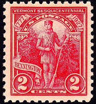 Battle of Bennington - 150th anniversary of Battle of Bennington commemorative stamp