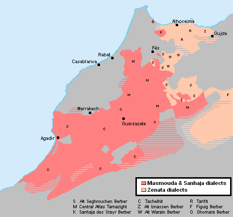 Berber dialects in Morocco