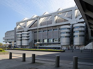 High-tech architecture - The Internationales Congress Centrum Berlin opened in 1979.