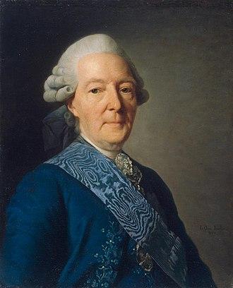 Ivan Betskoy - Portrait of Ivan Ivanovich Betskoi  by Alexander Roslin (1777) Saint Petersburg, Hermitage Museum