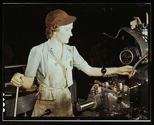 Turret lathe - Turret lathe operator, USA, 1942.
