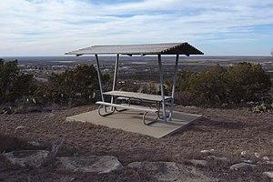 Big Spring State Park (Texas) - Image: Big Spring State Park Picnic Table 2009