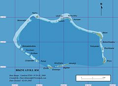 Map of Bikini Atoll