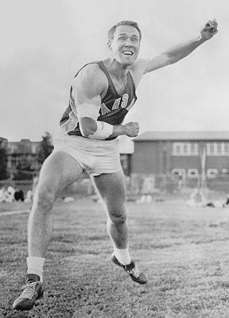 William Alley (athlete) - Alley in 1959